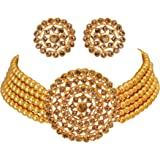 Golden Grace Fashion Jewellery Alloy and Pearl Necklace Set for Women