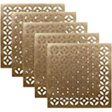 Kuber Industries PVC Soft leather 6 Pieces Dining Table Placemat Set (Gold) -CTLTC11346