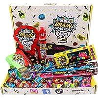 Brain Blasterz Sour Sweets Treat Box - Hard Sour Candy, Brain Breakerz, Candy Spray, Brain Bitz, Chew Bars & More Sour…