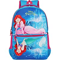 Priority Disney Princess Ariel 32 litres Teal Blue Polyester Kid's School Bag   Casual Backpack for Girls (25037)