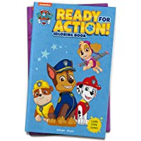 Ready For Action! : Paw Patrol Giant Coloring Book For Kids