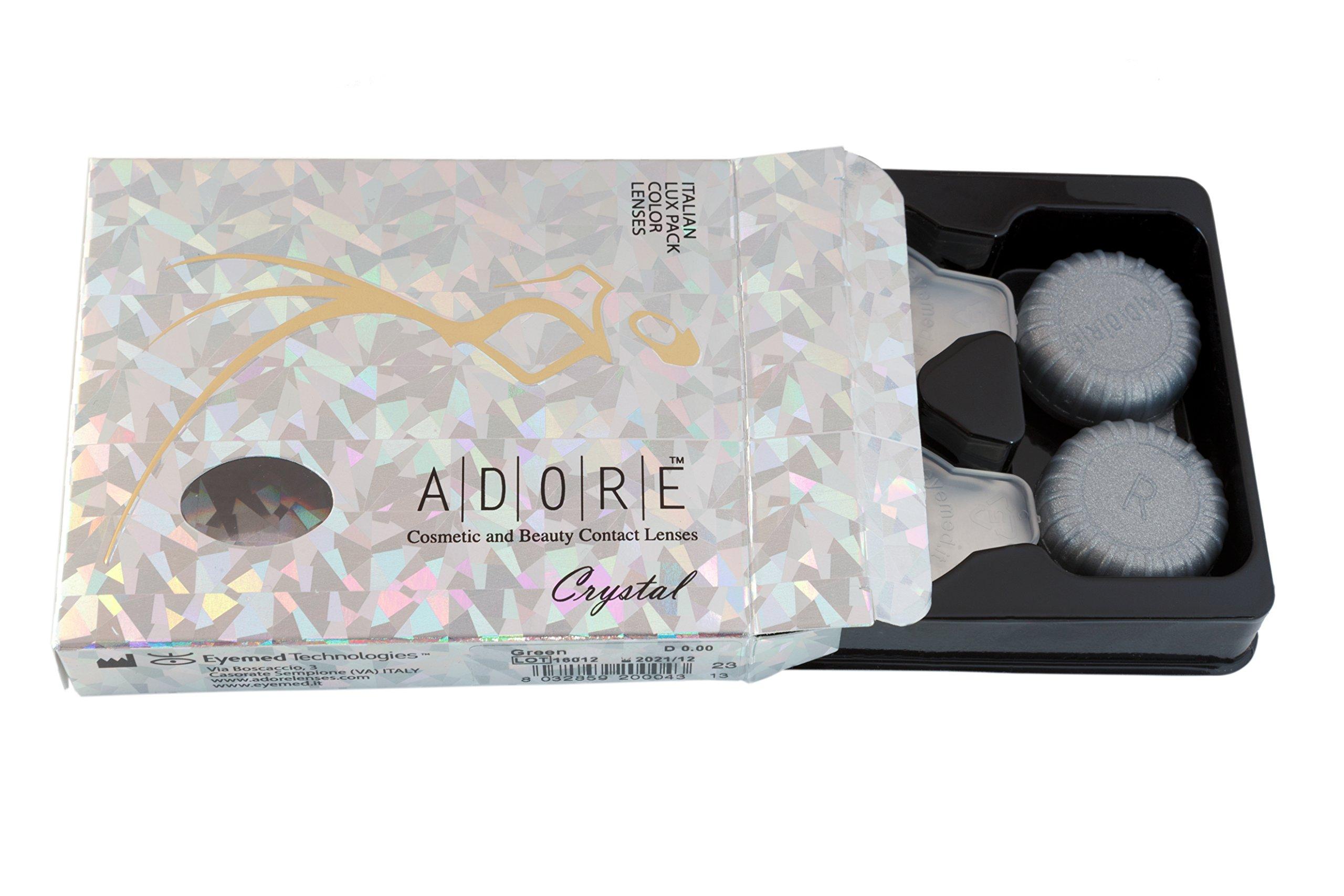 tessuti pregiati 100% autenticato prodotto caldo Lenti a contatto Colorate morbide ADORE Crystal Castano ...