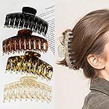 4 Stück Große Haarklammer,4,3 Zoll Große Haarspangen für dickes Haar Rutschfestes Haar Jaw Clips Haarstyling-Zubehör für Frau