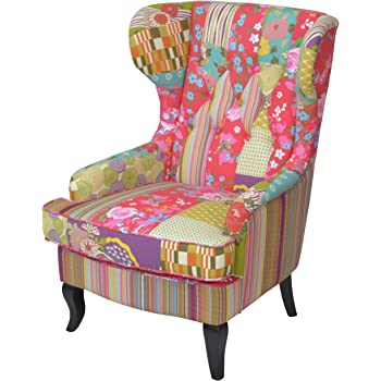 "DESIGN OHRENSESSEL""PATCHWORK"" Sessel Lesesessel mit"