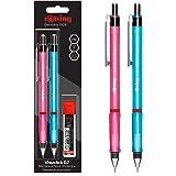 rOtring Visuclick-stiftpenna | 0,7 mm | 2 stycken | med 24 HB-stift rosa/blå