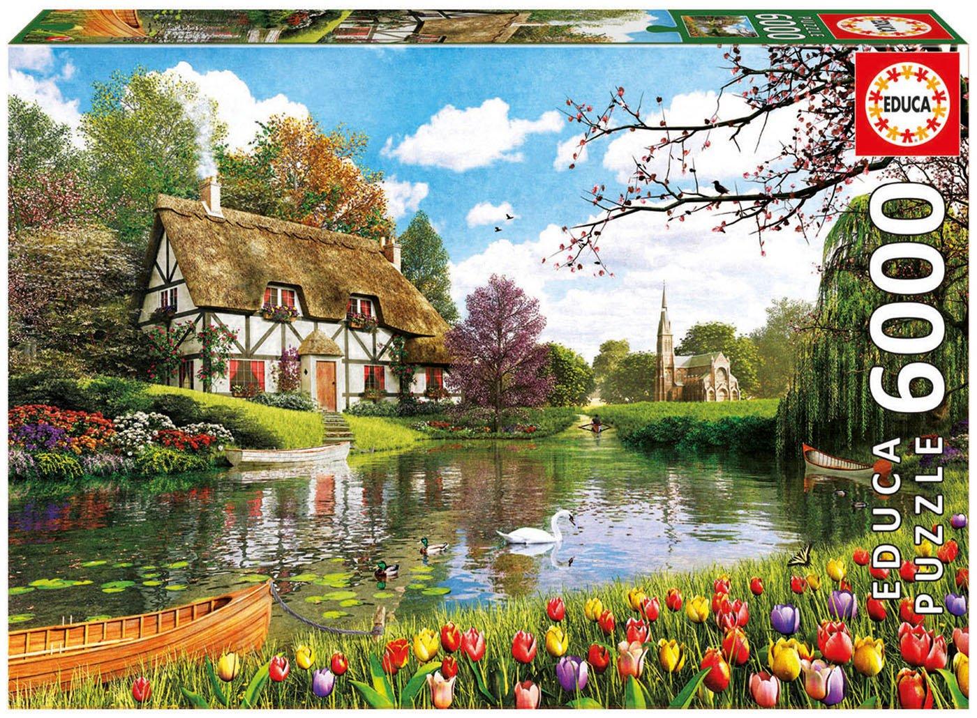 Educa Borrás – Puzzle Primavera en el Lago, 6000 Piezas (16784.0)