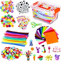 Vacoulery Kits d'artisanat Bricolage Set pour Enfants, Cure Pipe Cleaners Crafts Set Tiges de Fils Chenille Autocollant…