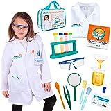 معطف مختبر من 15 قطعة من بورن تويز للأطفال والعلماء للأعمار من 5 إلى 9 سنوات