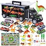 Camión Transportador de Dinosaurios incluir Huevos de Dinosaurio Juguetes Mini Coche de Carreras, Tapete de Juego, Las señale