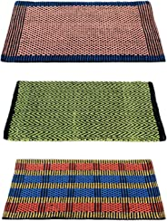 Story@Home Traditional Style Eco Series Cotton Blend 3 Piece Door Mat - 16