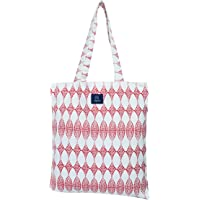 AQVA Printed Soft Cotton Canvas Tote Bag for Women and Men - Shoulder Handbag with Top Zip Closure, Inner Pocket