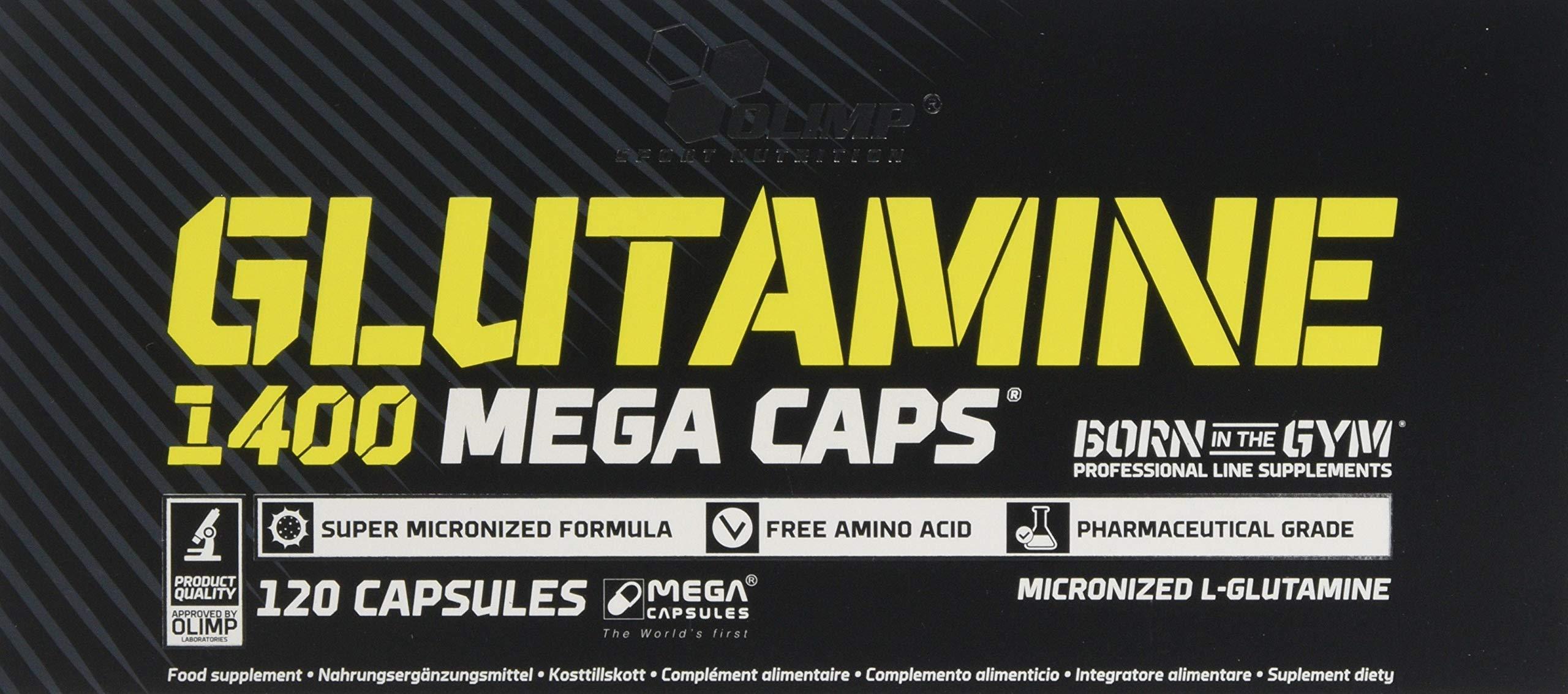 81qodJAbR0L - Olimp Labs L-Glutamine Capsules, Pack of 120 Mega Capsules 24757