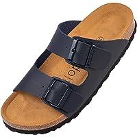 Palado® Damen Sandale Korfu | Made in EU | Pantoletten in modischen Farben | 2-Riemen Sandaletten mit Natur Kork…