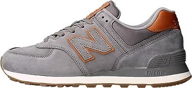 New Balance Sneaker Camoscio con para in Gomma e Logo Laterale