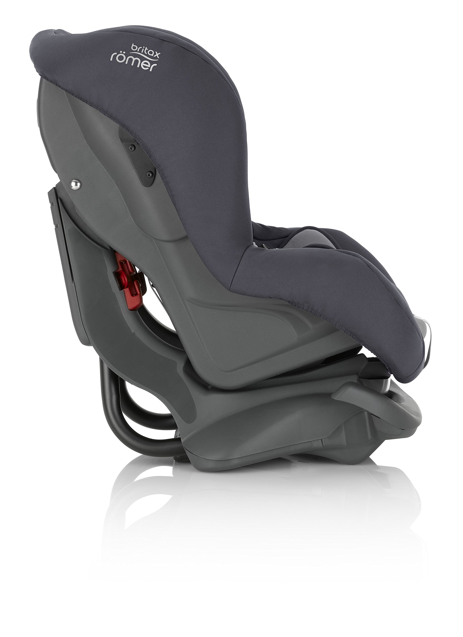 Britax Römer FIRST CLASS PLUS Group 0+/1 (Birth-18kg) Car Seat - Storm Grey  Extended recline position when rearward facing - the safest way to travel Reassurance built-in - Click and safe harness tensioning confirmation High quality protection - side impact protection Plus performance chest pads and pitch control system 5