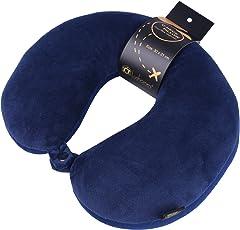 Lushomes Deep Blue Microbeads Neck Pillow (30 x 31 cms, Single pc)