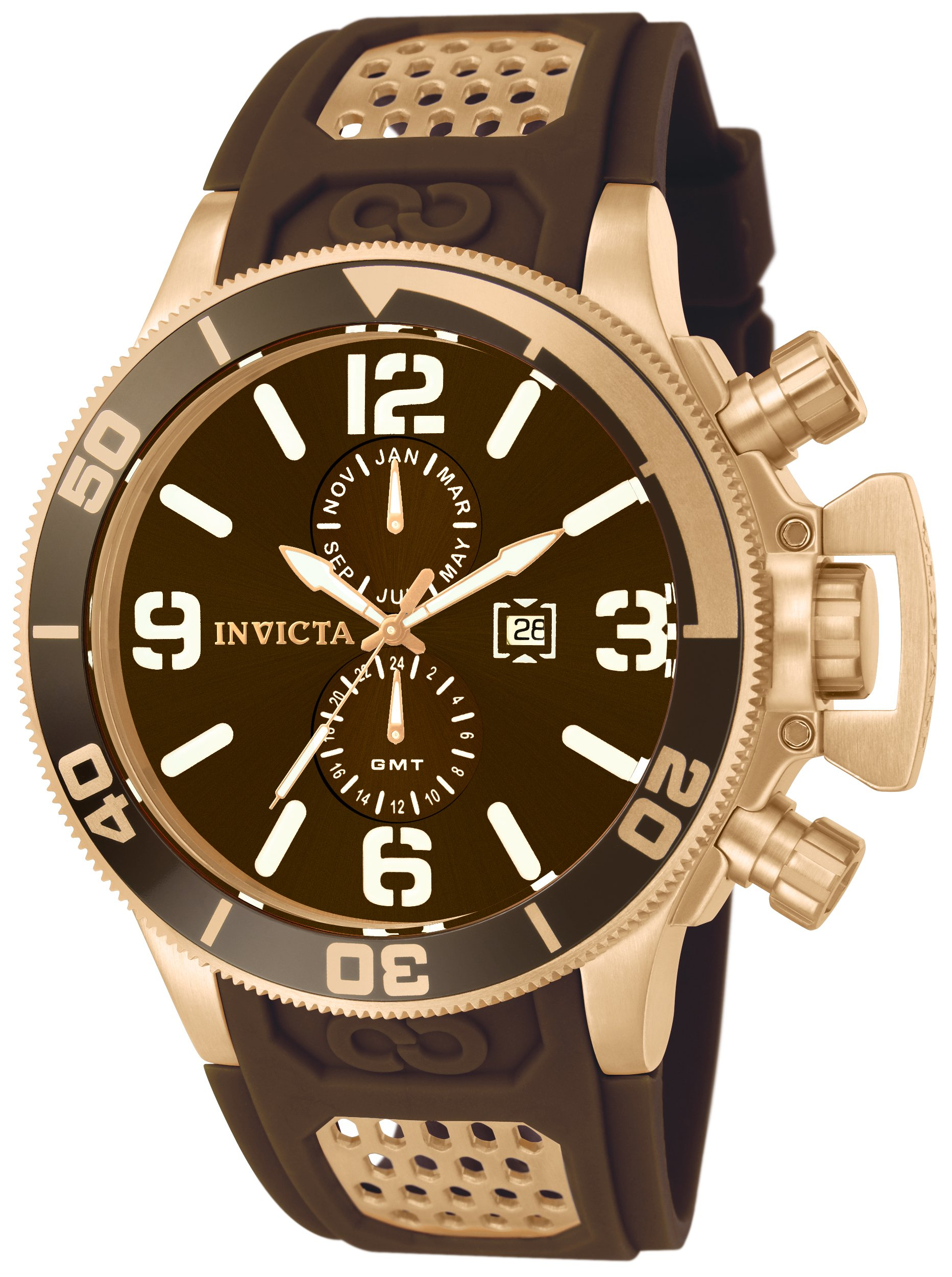 Invicta 10506 Corduba Reloj para Hombre acero inoxidable Cuarzo Esfera marrón