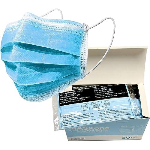 Mascherine Chirurgiche 50 pezzi Tipo II – Certificate CE – Busta Singola - Altissima Capacità Protettiva
