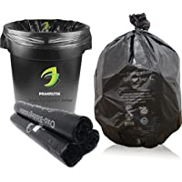PRAKRUTIK Garbage Bags Biodegradable For Kitchen,Office,Small Size (43cmx51cm/17 Inch x 20 Inch,90 Bag) (Black)