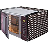 Glassiano Polka White and Black Printed Microwave Oven Cover for Samsung 28 Litre Convection Microwave Oven MC28H5025VB/TL, Black