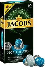 Jacobs Espresso Kapseln Lungo Decaffeinato- Intensität 6- 50 Nespresso®* kompatible Kaffeekapseln aus Aluminium (5 x 10 Kapseln)