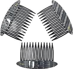 Evogirl Hair Comb Elegant Print Glossy Premium Combo Gift Pack All Types of Hair Styles Matte Finish Black & White, Medium, for Women/Girls (Pack of 3)