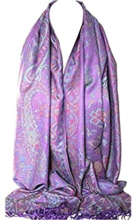 Floral Vine Print Rainbow Colours Large Pashmina Feel Wrap Scarf Shawl Hijab