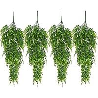 4pcs 80cm Artificielle Fougère de Boston Plante Grimpante Vigne Plante Suspendue Fougère Intérieure Extérieure…