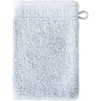 Gant de Toilette Möve Poolside - 20 x 15 cm - Fabriqué en Allemagne - 100 % Coton - Argenté
