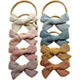 Baby Girl Bows and Headbands, Stretchy Nylon Hair Bands for Newborn Infant Toddler by Cherssy