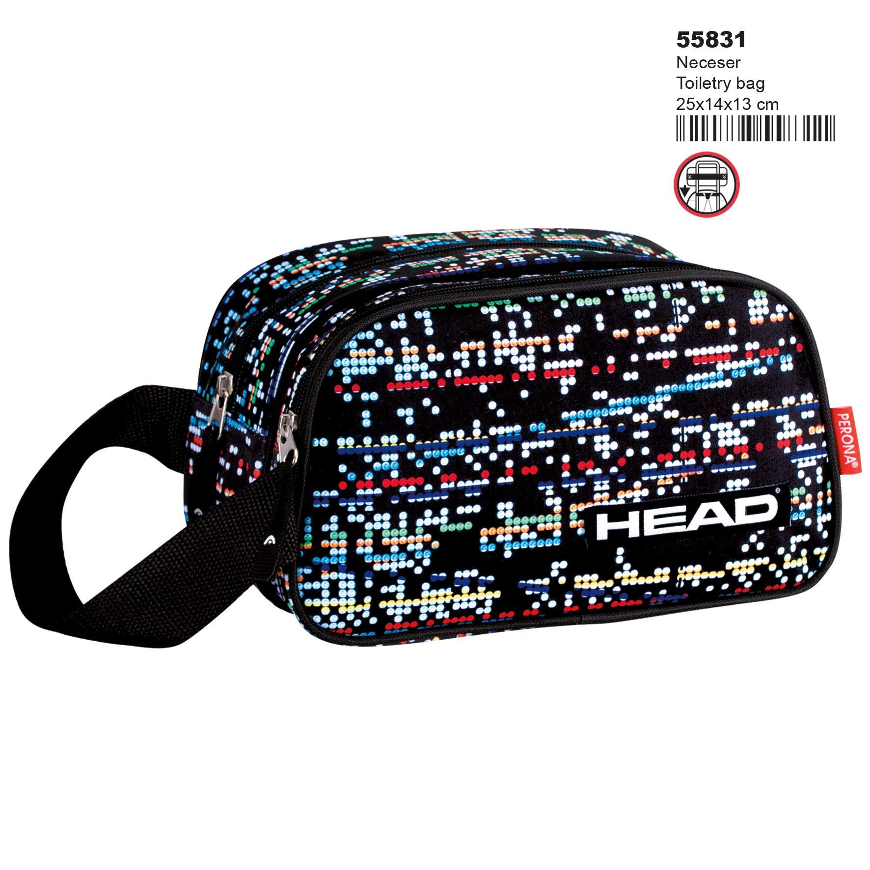 Montichelvo Montichelvo Vanity Bag 2 Dept. HD Digital Neceser de Viaje, 25 cm, Multicolor (Multicolour)