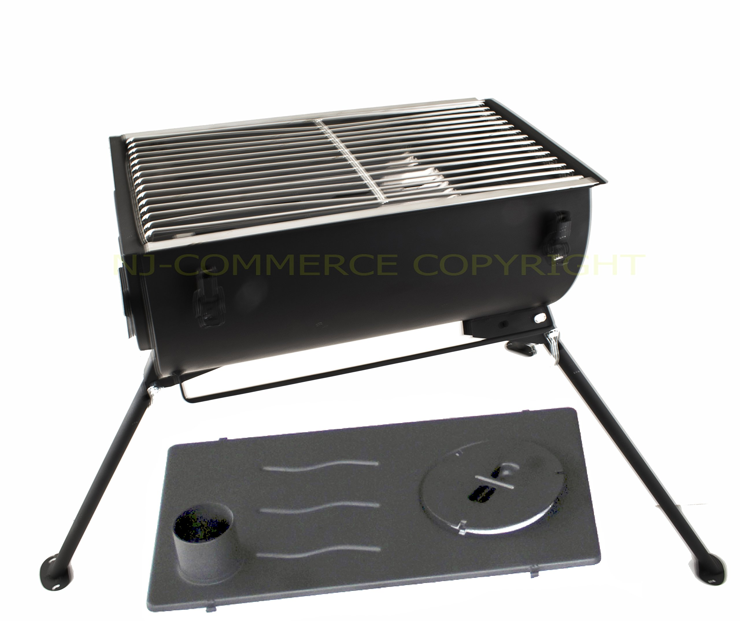 NJ Comfort Wood Burning Stove Grill BBQ Camping Cooker + 3L Water Heater 8