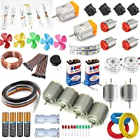vyga 5 Types 14 Pcs DC Motor with Buzzer and Jumber/2000 to 20000 RPM 10 Resistor Kit/High Speed with Battery Set -Pack…