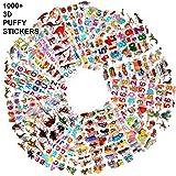HOWAF 48 Feuilles Plus de 1000 Novelty Autocollants 3D pour Enfant, Fille et Garçon Gommettes Stickers Enfant, Lettres, numér