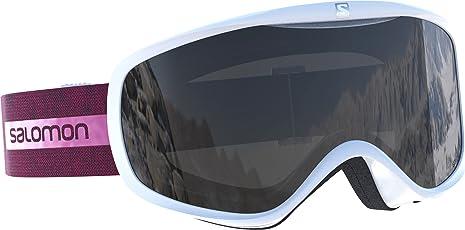 Salomon Sense Access Damen-Skibrille, geeignet für Brillenträgerinnen, verschiedenste Wetterverhältnisse, orangefarbene Scheibe (auswechselbar), Airflow System