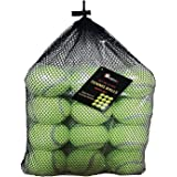 1ABOVE Durable Sport Play Tennis Cricket Dog Toy Ball with Mesh Carrying Bag, Sturdy & Durable, Great For Lessons, Practice,