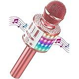 Karaoke microfoon, bluetooth, karaoke-microfoon, draadloos, met led-flitser, draagbaar, karaoke-speler voor kinderen, luidspr