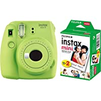 Fujifilm Instax Mini 9 Instant Camera (Lime Green) with Film (20 Shots)