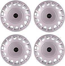 "Autofy 13"" 14 Spokes Snap-On Universal Wheel Cap Wheel Cover Hub Cap (Set of 4, Grey)"