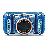 VTech - Kidizoom Duo DX Bleu, Appareil Photo Enfant 10 en 1, Filtres Dynamiques – Version FR