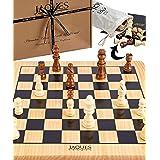 Jaques of London Juego de ajedrez Completo con Piezas - Tablero de ajedrez de Calidad y Piezas de ajedrez Jaques Staunton - C