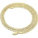 Collana a catena in oro giallo 750 18 kt, larghezza 4,40 mm, lunghezza a scelta