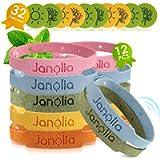 Janolia Lemongrass Braccialetti per lo sport, confezione da 12 braccialetti in fibra per attività indoor e outdoor…