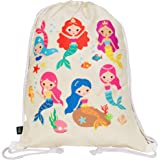 HECKBO Mochila niñas con dibujo de sirena - impresa por ambas caras con dibujos coloridos de sirenas - 40x32 cm - se puede la