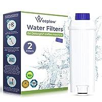 Weeplow - Filtri per l'acqua DLSC002 per le macchine da caffè Delonghi, compatibile con DeLonghi Magnifica, Dinamica…