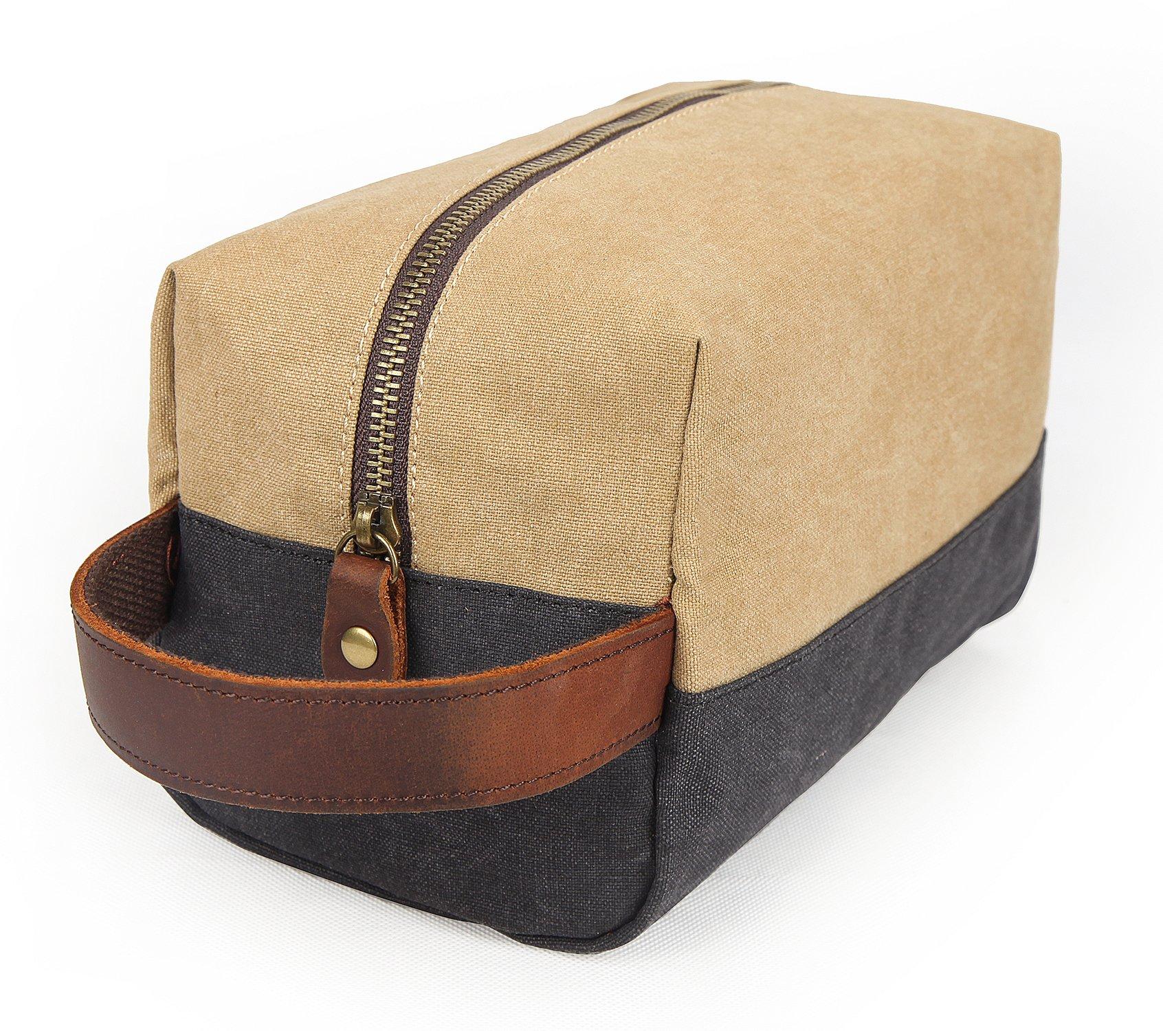EverVanz-bergroer-Reise-Duffel-Segeltuch-Lederbesatz-Tragetasche-Schultertasche-Handtasche-Wochenend-Tasche