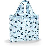 Reisenthel Mini Maxi beachbag Strandtasche, 62 cm, 40 Liter, Blue Leaves