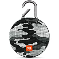 JBL Clip 3 Ultra-Portable Wireless Bluetooth Speaker with Mic (CAMO)