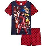 Miraculous Ladybug Girls Pyjamas, Short Cotton Superhero Kids PJs for Summer