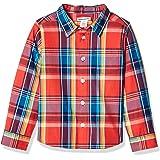 Amazon Essentials - Camisa de popelina/batista de manga larga para niño